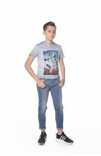 T-Shirt PLAGE Garçon S18133B (33543) - DEELUXE