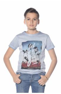 T-Shirt PLAGE Garçon S18133B (33544) - DEELUXE