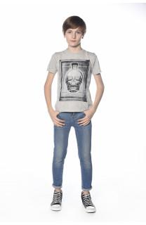 T-Shirt CRYSTAL Garçon S18184B (34157) - DEELUXE