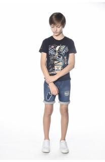 T-Shirt MIND Garçon S18192B (34188) - DEELUXE