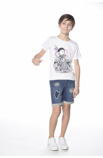 T-shirt Popeye Boy S18123B (34323) - DEELUXE-SHOP