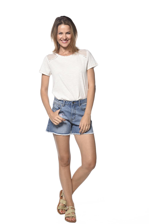 Short STAR Femme S18J887W (35225) - DEELUXE