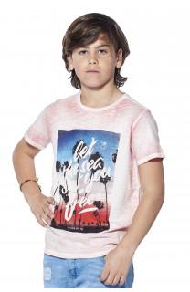 T-Shirt PLAGE Garçon S18133B (37040) - DEELUXE