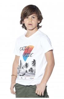 T-Shirt T-shirt Enjoy Boy S18186B (37046) - DEELUXE-SHOP