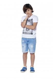 T-Shirt CRYSTAL Garçon S18184B (37054) - DEELUXE