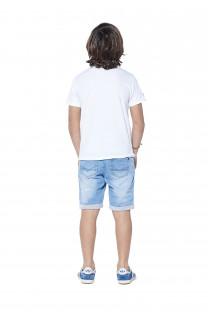 T-Shirt CRYSTAL Garçon S18184B (37056) - DEELUXE