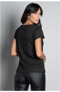 T-shirt T-SHIRT GLITTER Woman W18113W (37369) - DEELUXE-SHOP