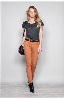 T-shirt T-SHIRT GLITTER Woman W18113W (37373) - DEELUXE-SHOP