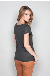 T-Shirt GLITTER Femme W18113W (37374) - DEELUXE