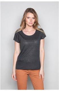 T-Shirt GLITTER Femme W18113W (37375) - DEELUXE