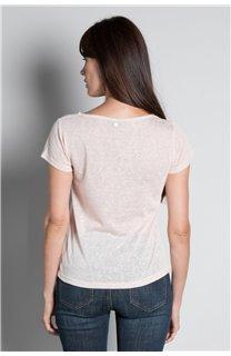 T-shirt T-SHIRT GLITTER Woman W18113W (37378) - DEELUXE-SHOP