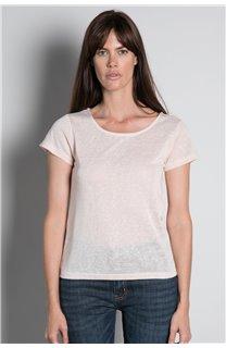 T-shirt T-SHIRT GLITTER Woman W18113W (37379) - DEELUXE-SHOP