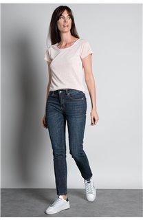 T-shirt T-SHIRT GLITTER Woman W18113W (37380) - DEELUXE-SHOP