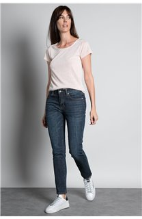 T-Shirt GLITTER Femme W18113W (37380) - DEELUXE