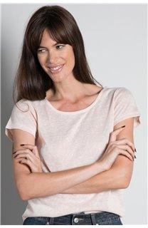 T-shirt T-SHIRT GLITTER Woman W18113W (37381) - DEELUXE-SHOP