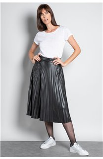 T-shirt T-SHIRT GLITTER Woman W18113W (37382) - DEELUXE-SHOP