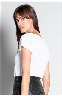 T-Shirt GLITTER Femme W18113W (37384) - DEELUXE