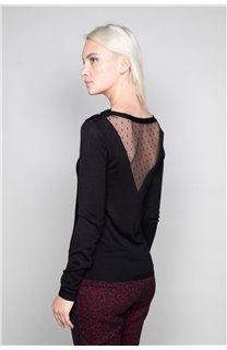 Sweater SWEATER LACY Woman W18316W (37480) - DEELUXE-SHOP