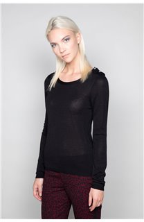Sweater SWEATER LACY Woman W18316W (37481) - DEELUXE-SHOP