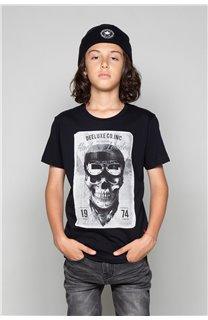 T-Shirt T-SHIRT CLEM Boy W18124B (37619) - DEELUXE-SHOP