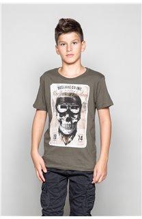T-Shirt T-SHIRT CLEM Boy W18124B (37623) - DEELUXE-SHOP