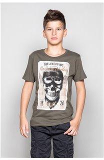 T-Shirt T-SHIRT CLEM Boy W18124B (37624) - DEELUXE-SHOP