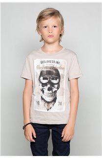 T-Shirt T-SHIRT CLEM Boy W18124B (37629) - DEELUXE-SHOP