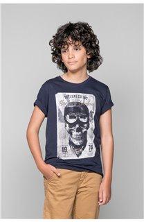 T-Shirt CLEM Garçon W18124B (37634) - DEELUXE