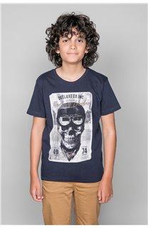T-Shirt T-SHIRT CLEM Boy W18124B (37635) - DEELUXE-SHOP