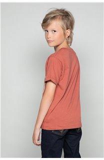 T-Shirt T-SHIRT CLEM Boy W18124B (37638) - DEELUXE-SHOP