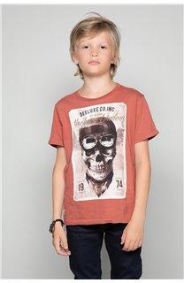 T-Shirt T-SHIRT CLEM Boy W18124B (37639) - DEELUXE-SHOP