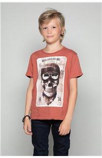 T-Shirt T-SHIRT CLEM Boy W18124B (37640) - DEELUXE-SHOP