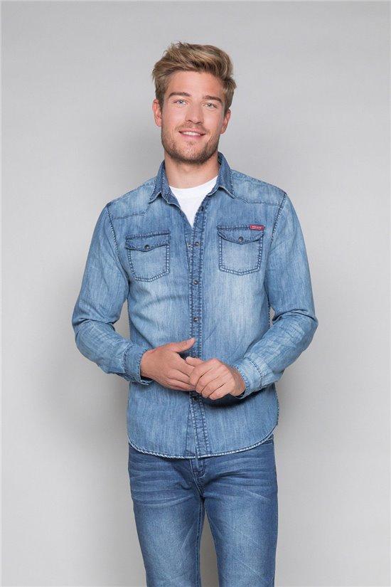 Shirt Shirt FOLK Man W18403 (37787) - DEELUXE-SHOP