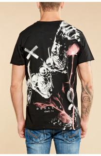 T-Shirt SKULLFLOWER Homme W18165 (37976) - DEELUXE