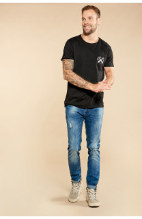T-Shirt SKULLFLOWER Homme W18165 (37978) - DEELUXE