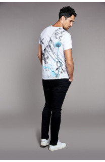 T-Shirt SKULLFLOWER Homme W18165 (37981) - DEELUXE