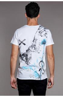 T-Shirt SKULLFLOWER Homme W18165 (37983) - DEELUXE