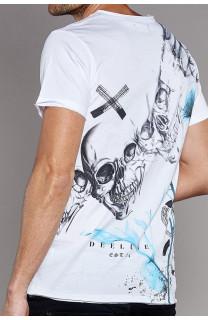 T-Shirt SKULLFLOWER Homme W18165 (37984) - DEELUXE