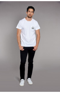 T-Shirt SKULLFLOWER Homme W18165 (37985) - DEELUXE