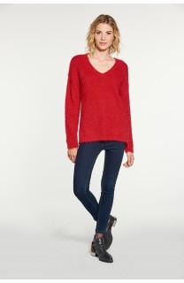 Sweater PILE Woman W18310W (38457) - DEELUXE-SHOP