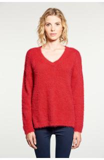 Sweater PILE Woman W18310W (38458) - DEELUXE-SHOP