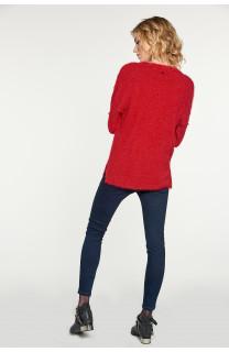 Sweater PILE Woman W18310W (38459) - DEELUXE-SHOP