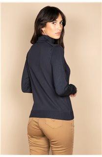 Sweater SWEATER BASIC Woman W18313W (38474) - DEELUXE-SHOP