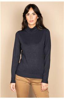 Sweater SWEATER BASIC Woman W18313W (38475) - DEELUXE-SHOP