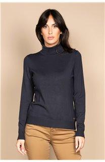 Sweater SWEATER BASIC Woman W18313W (38476) - DEELUXE-SHOP