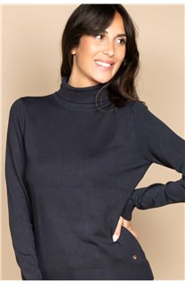 Sweater SWEATER BASIC Woman W18313W (38477) - DEELUXE-SHOP