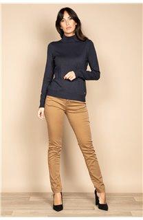 Sweater SWEATER BASIC Woman W18313W (38478) - DEELUXE-SHOP