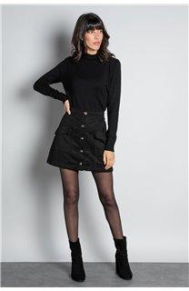 Sweater SWEATER BASIC Woman W18313W (38479) - DEELUXE-SHOP