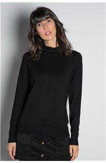Sweater SWEATER BASIC Woman W18313W (38480) - DEELUXE-SHOP