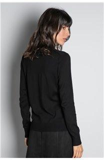 Sweater SWEATER BASIC Woman W18313W (38482) - DEELUXE-SHOP